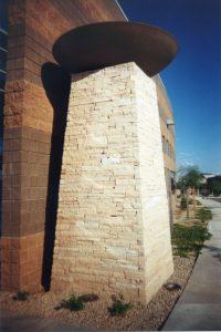 Entrance Precast concrete columns