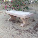 precast concrete bench