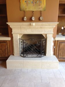 Precast concrete fireplace